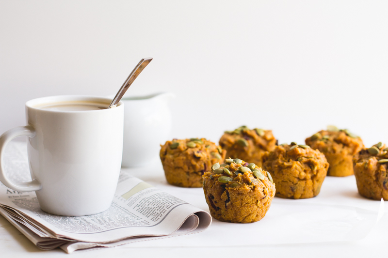 Whole Wheat Pumpkin-Cranberry Muffins