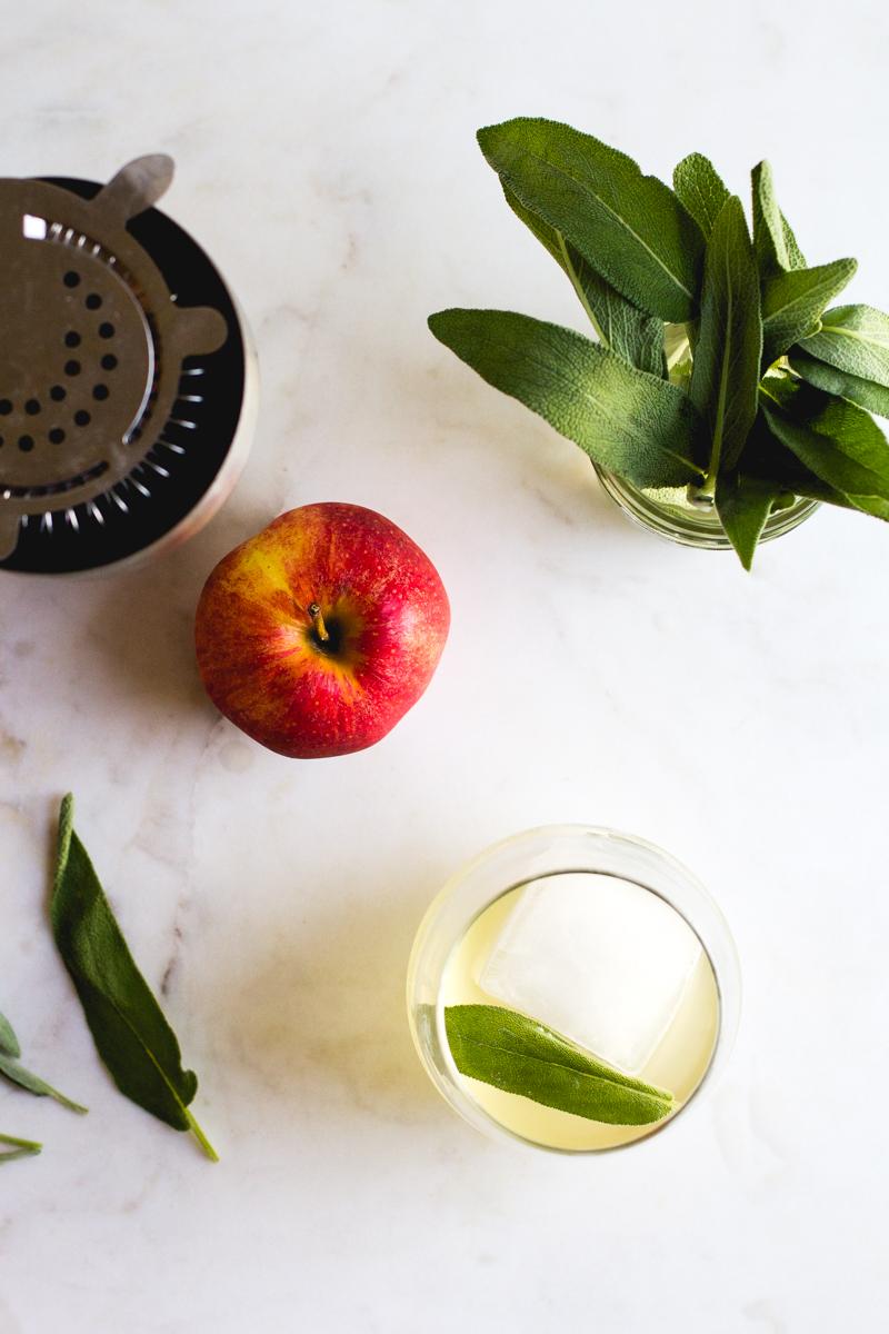 Apple + Sage Cocktail