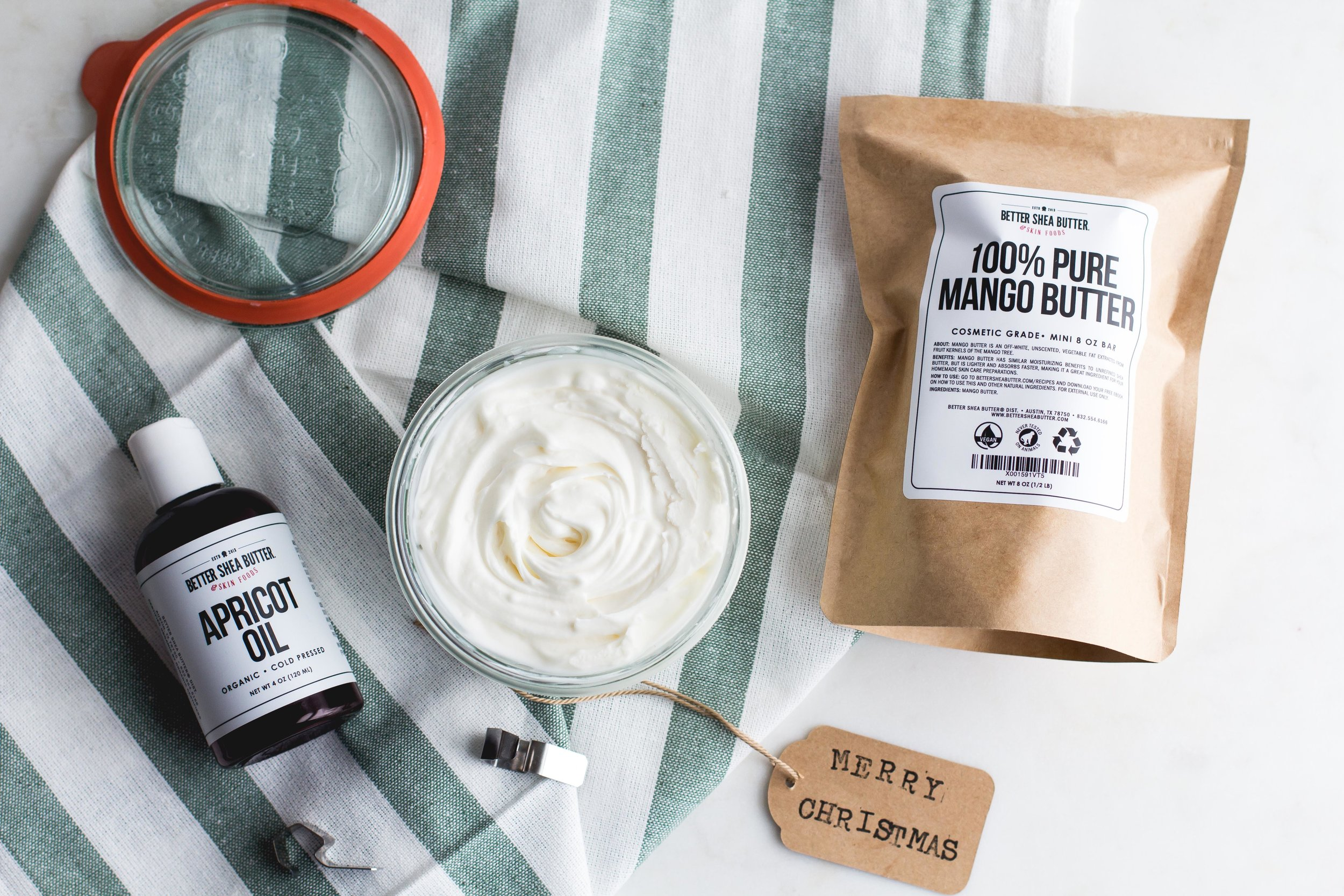 DIY Whipped Body Butter [with Apricot Oil + Mango Butter]