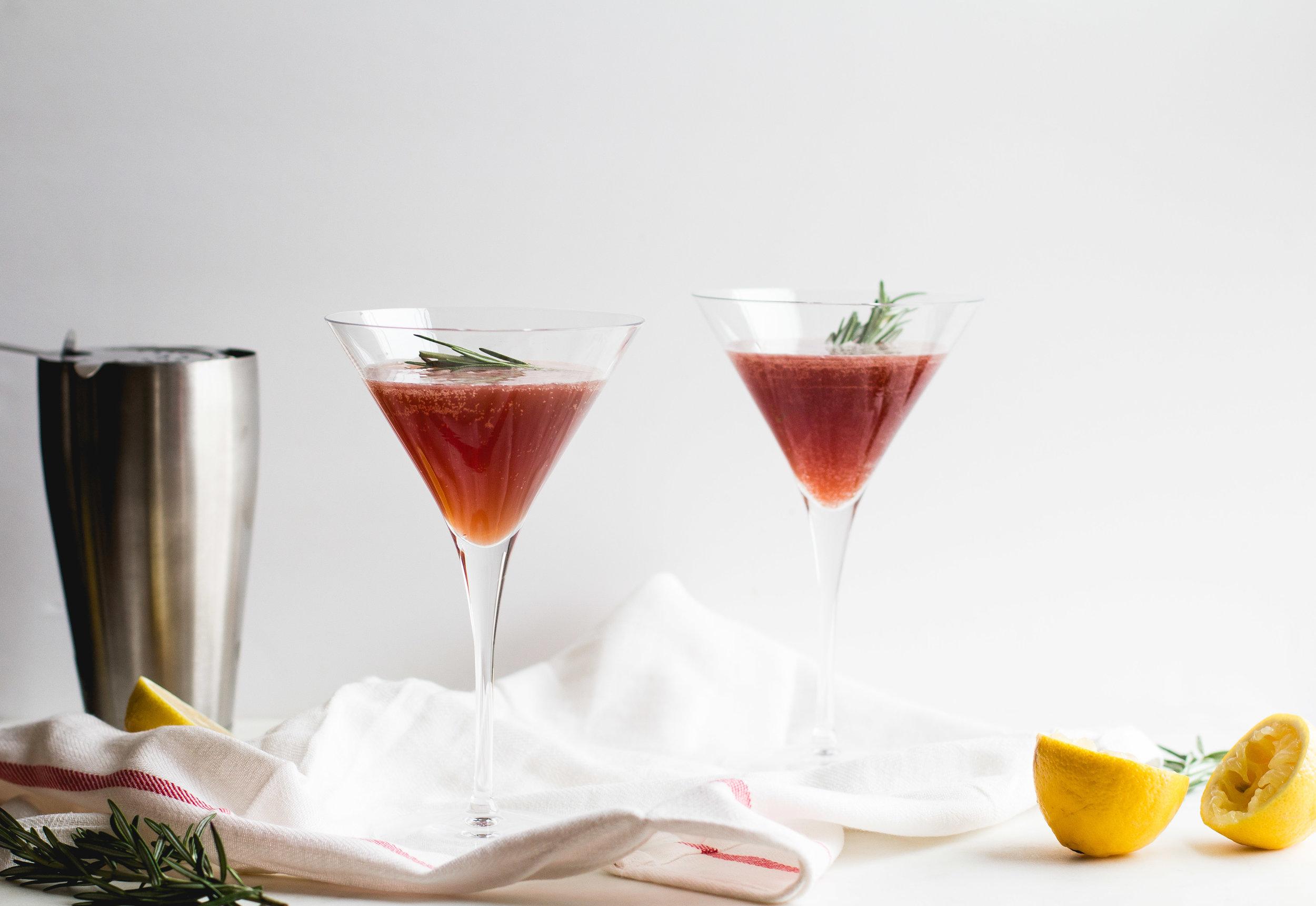 Pomegranate, Cider + Lemon Mocktail