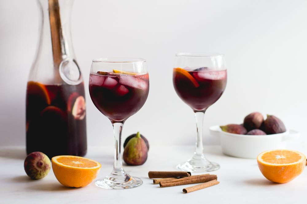 Sangria with Oranges, Figs + Cinnamon