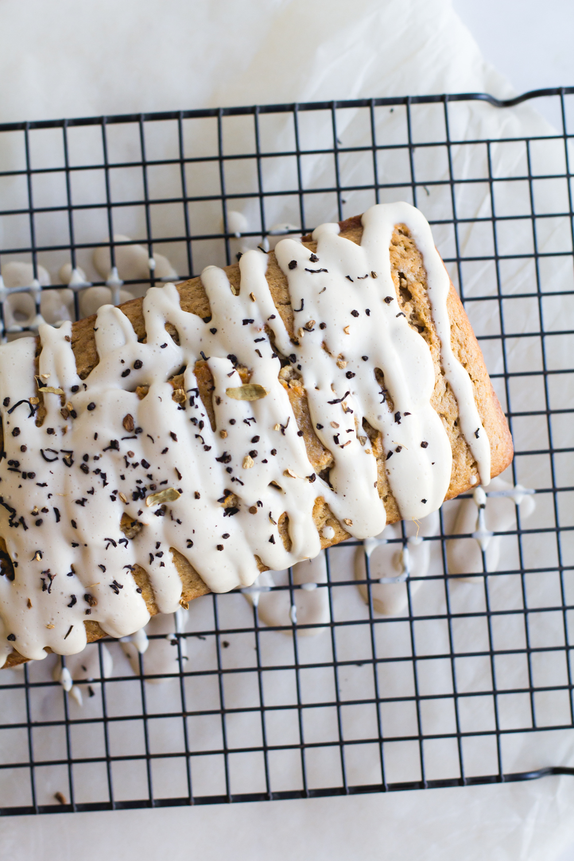 Spiced Chai Bread with Cream Cheese Glaze