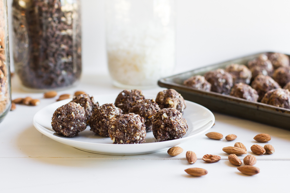 Almond, Coconut + Date Bites [and showing up empty-handed]