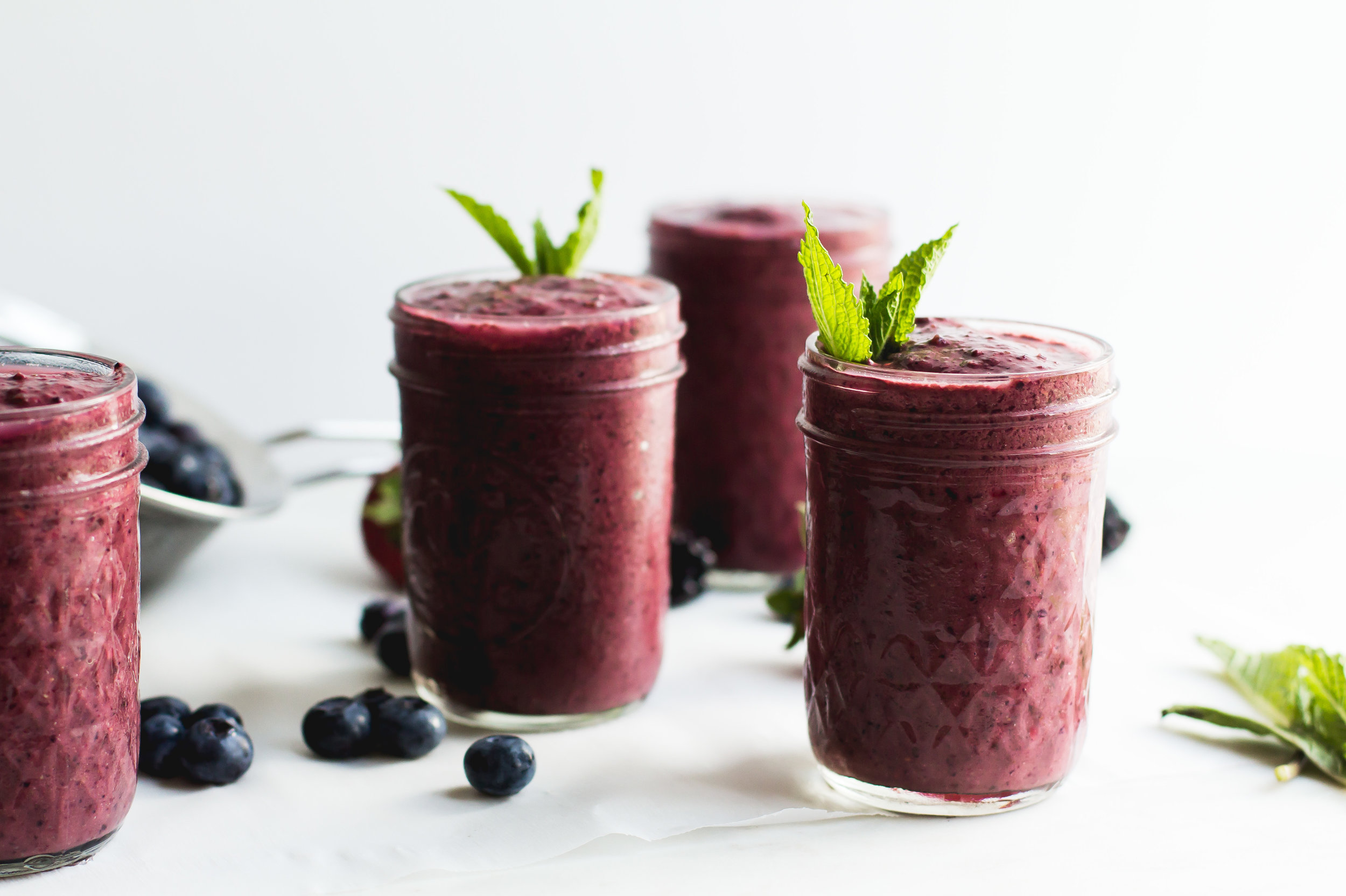 Mixed Berry + Cocoa Smoothie - Sarah J. Hauser
