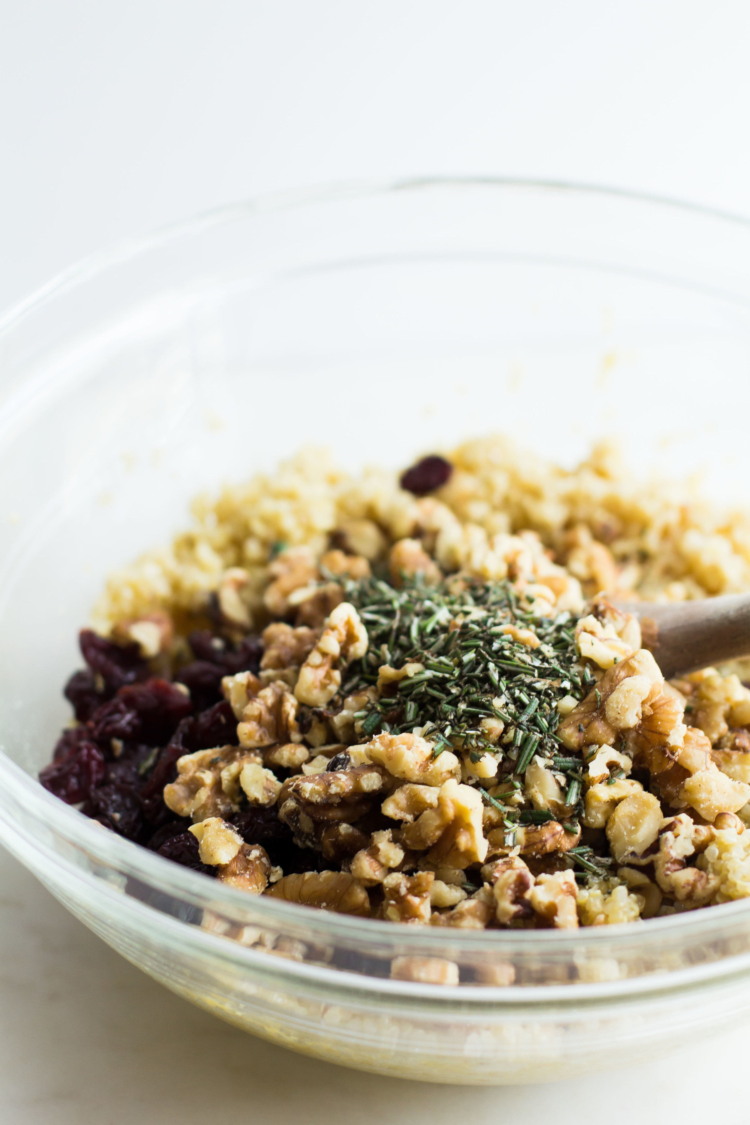 Rosemary Quinoa Salad with Walnuts + Cherries - Sarah J. Hauser