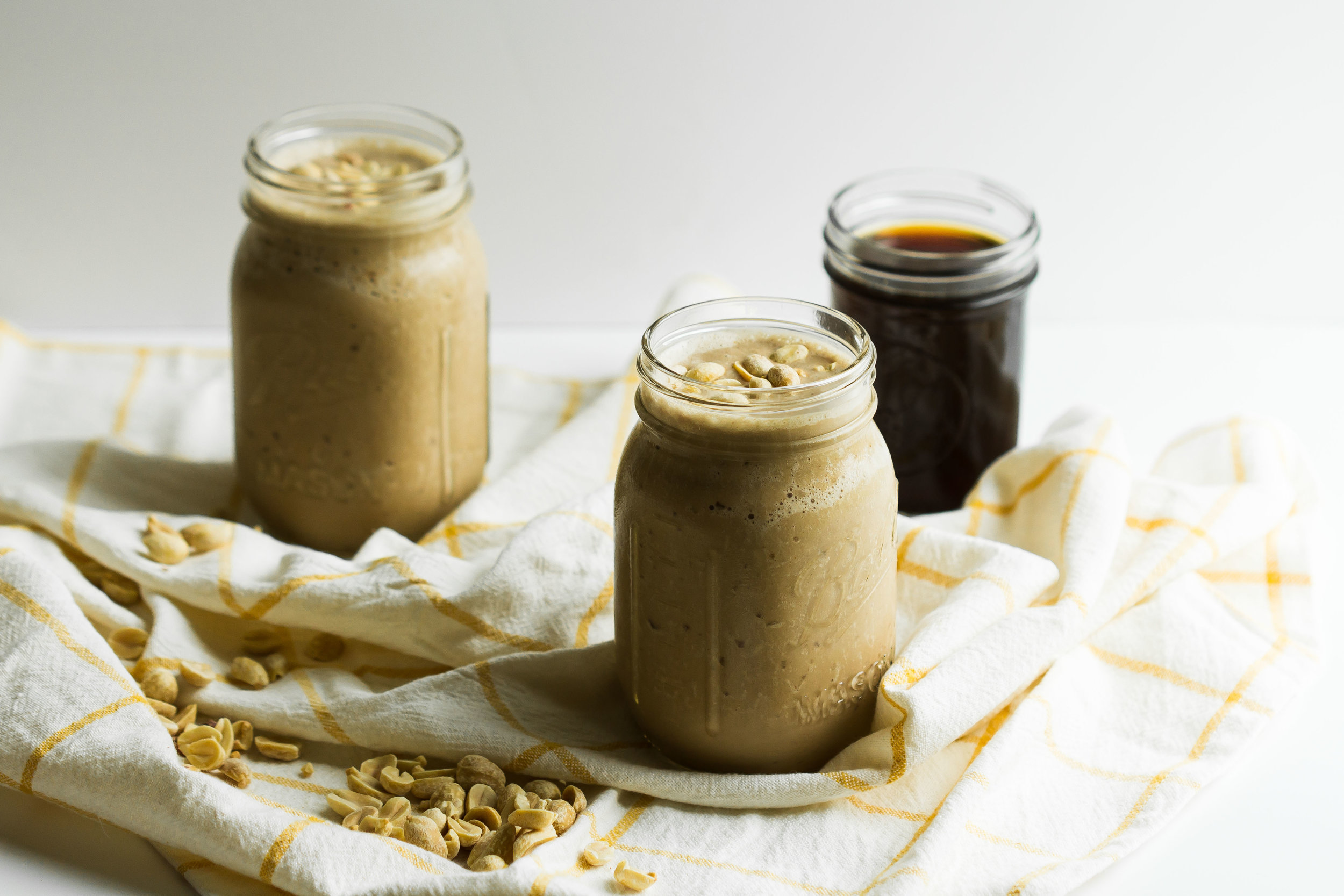 Coffee, Peanut Butter + Banana Smoothie - Sarah J. Hauser
