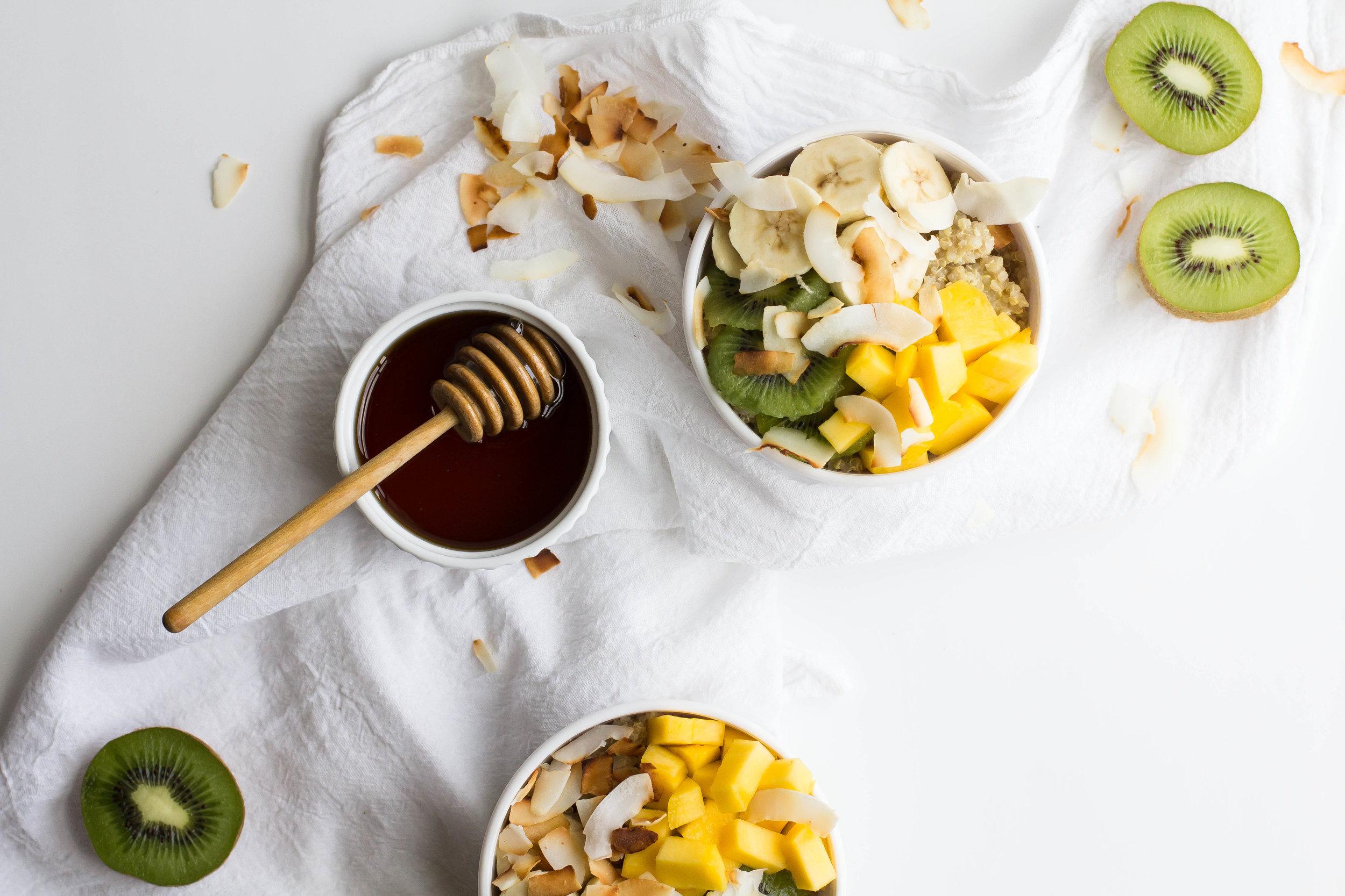 Tropical Quinoa Breakfast Bowl - Sarah J. Hauser