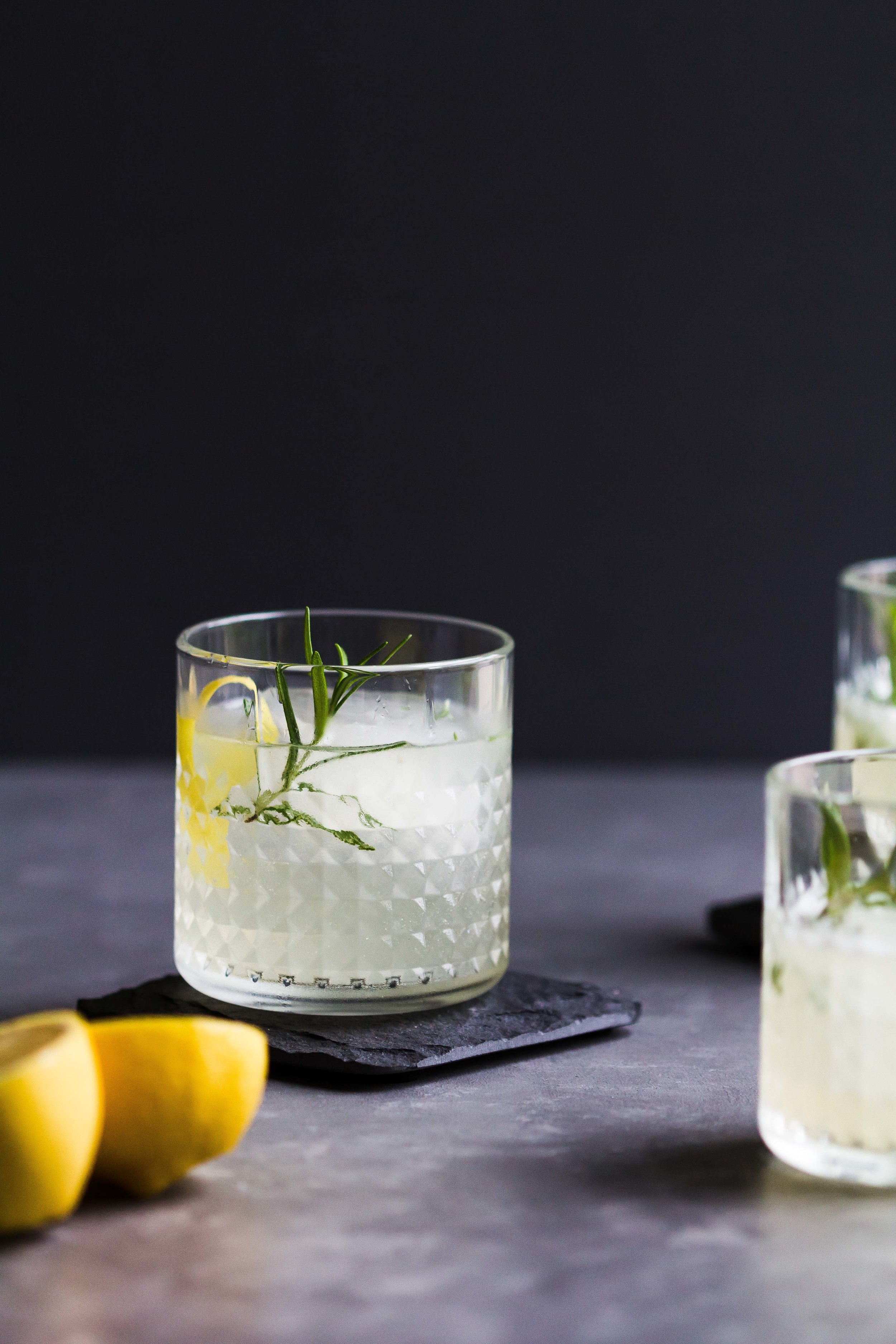 Elderflower, Lemon + Rosemary Cocktail - Sarah J. Hauser