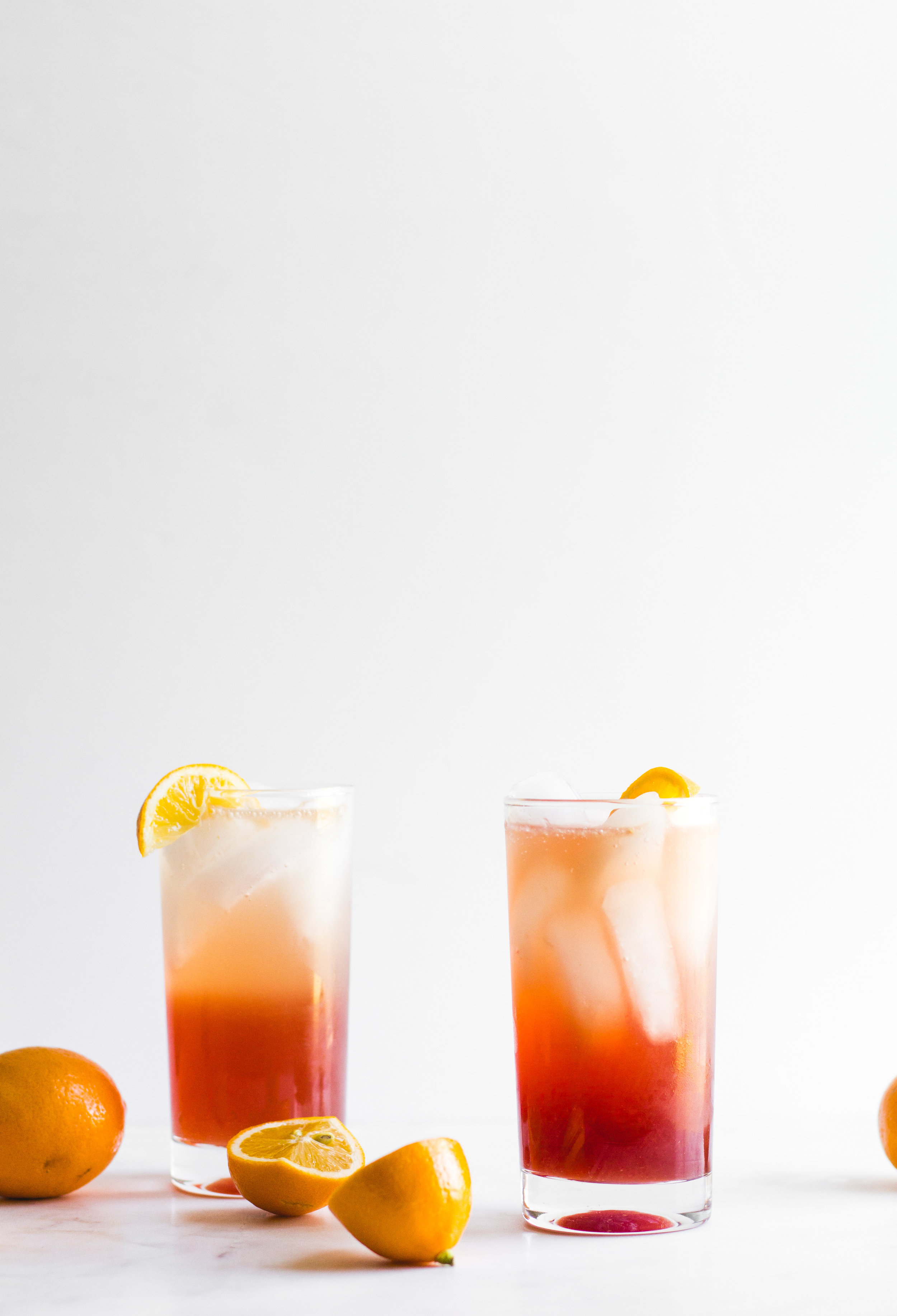 Meyer Lemon + Pomegranate Tom Collins | Sarah J. Hauser