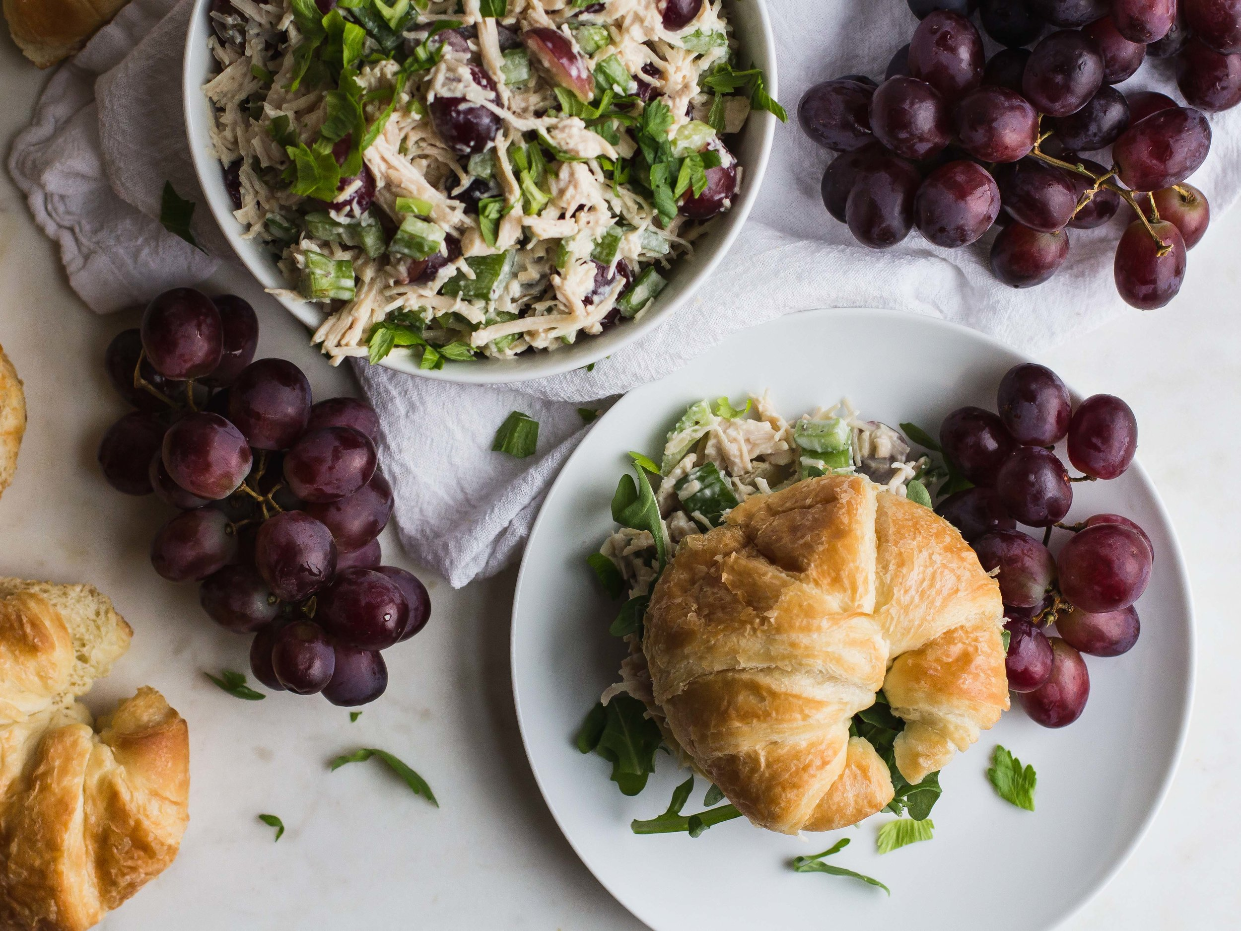 Easiest Chicken Salad [Two Ways!] | Sarah J. Hauser #lunch #weeknightdinner #chickensalad