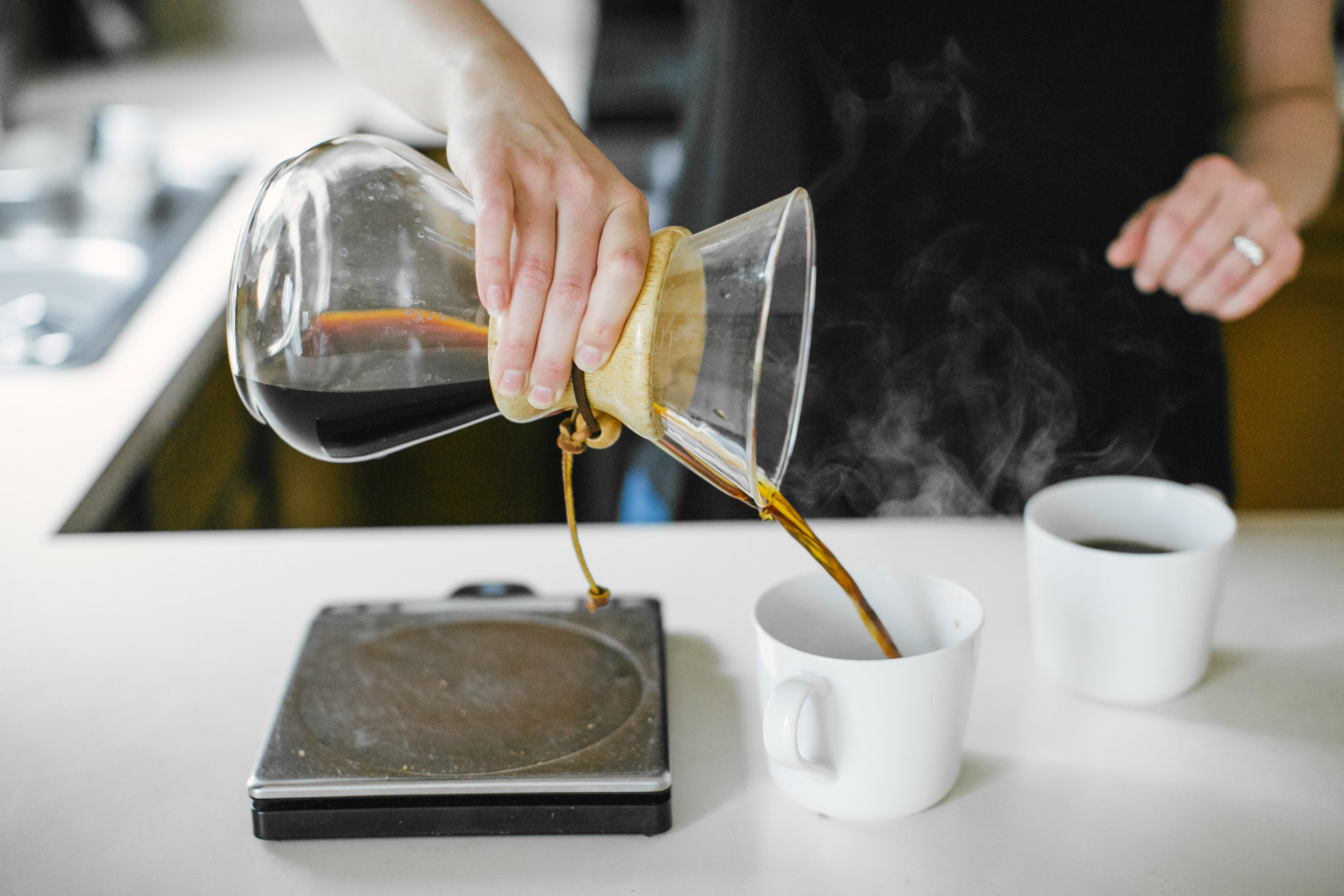 How to Brew Coffee with a Chemex | Sarah J. Hauser #coffee #chemex #coffeebrewing