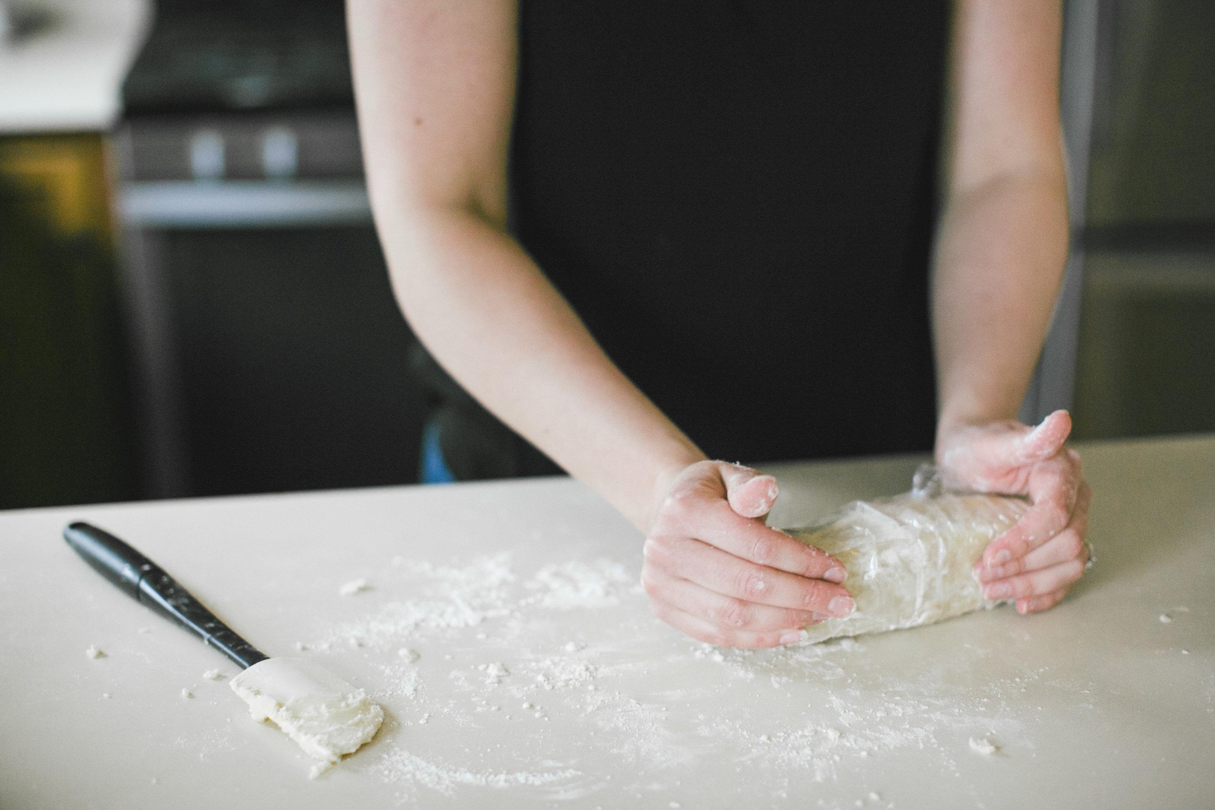 Chocolate Dipped Almond Shortbread | Sarah J. Hauser #baking #foodphotography #cookies #shortbread