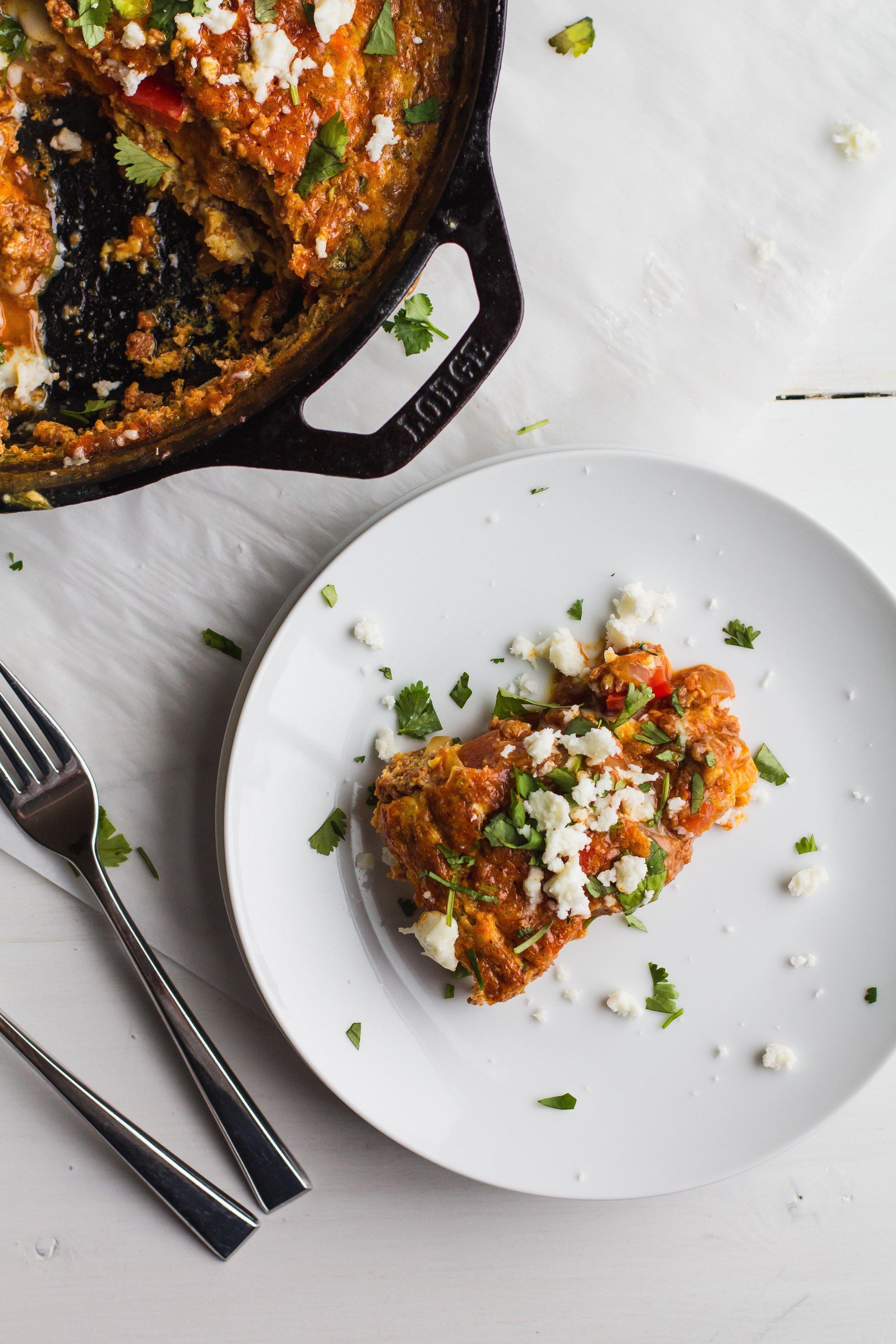 Frittata with Chorizo + Queso Fresco [Gluten-Free and Keto]