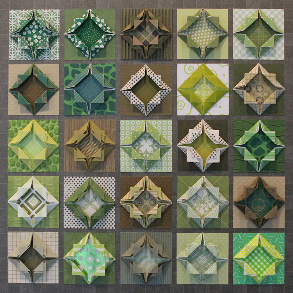 Candyce Anderson - Green Grey Origami Quilt