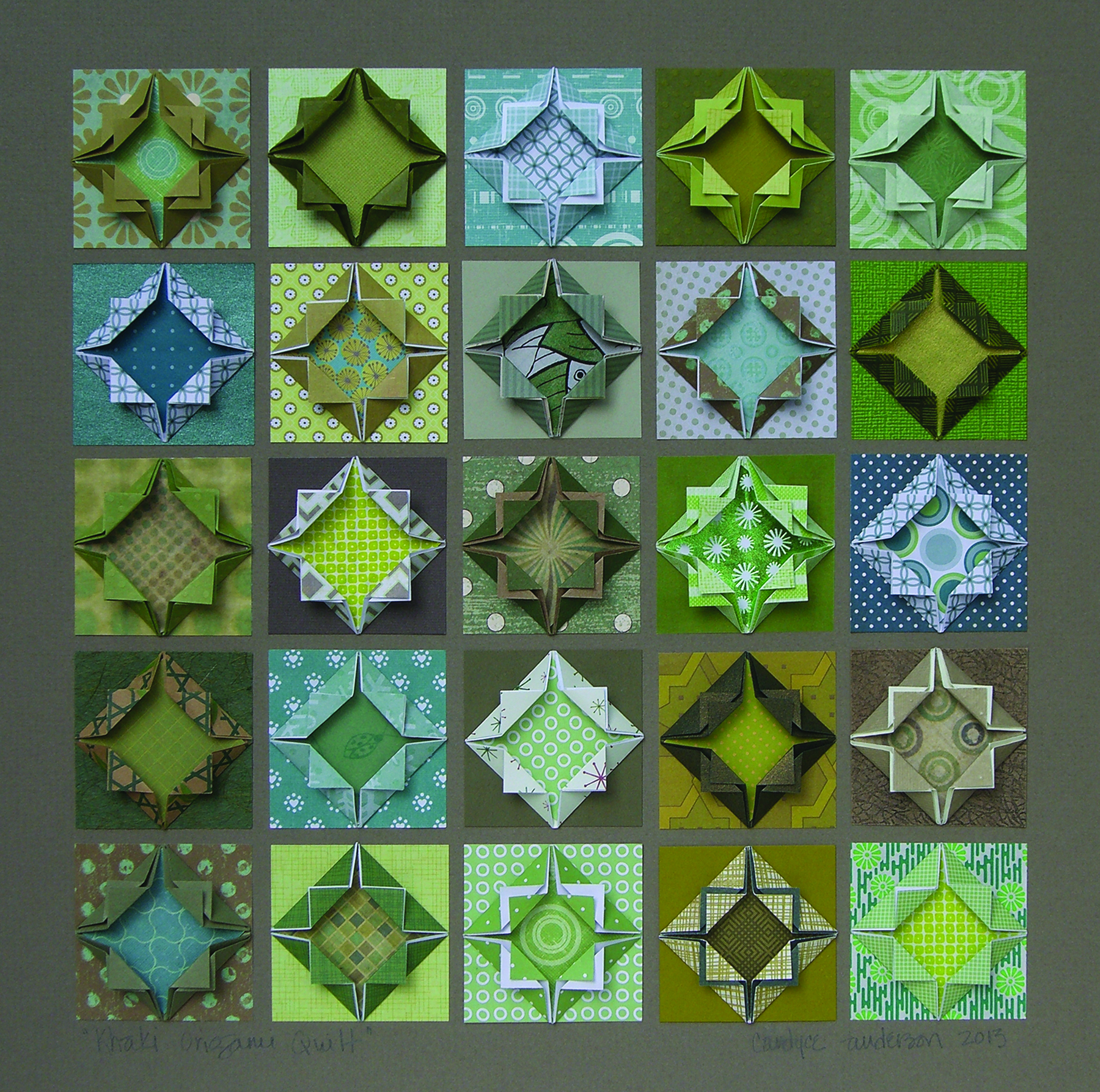 Candyce Anderson - Khaki Origami Quilt