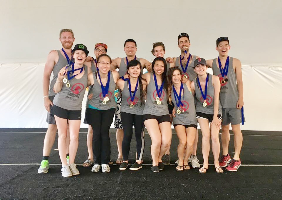 BCNC paddlers winning gold while raising $4500 for their teen center in Boston Dragon Boat Festival 2017!
