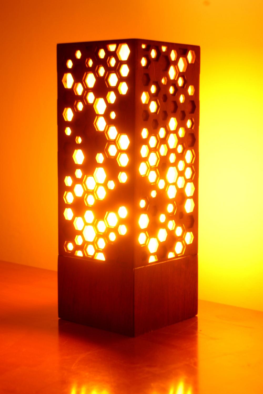 """Hive 1.0"" Lasercut Lamp by Foxworth Architecture PLLC"