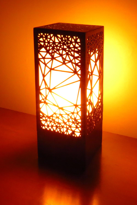 """Nebula 1.0"" Lasercut Lamp by Foxworth Architecture PLLC"