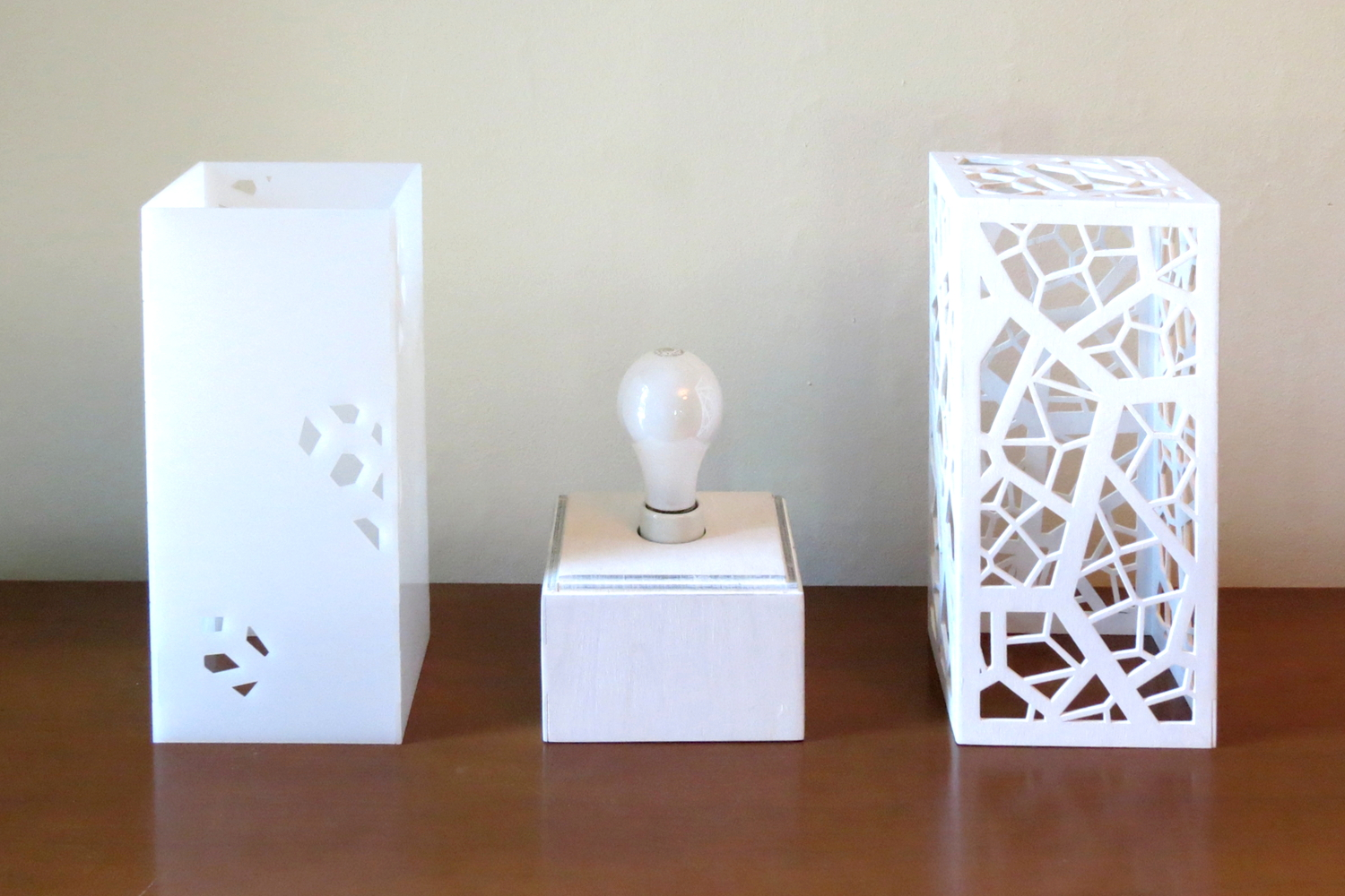 """Cellular 1.0"" Lasercut Lamp by Foxworth Architecture PLLC"