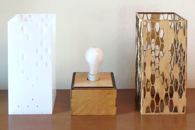 """Hive 2.0"" Lasercut Lamp by Foxworth Architecture PLLC"