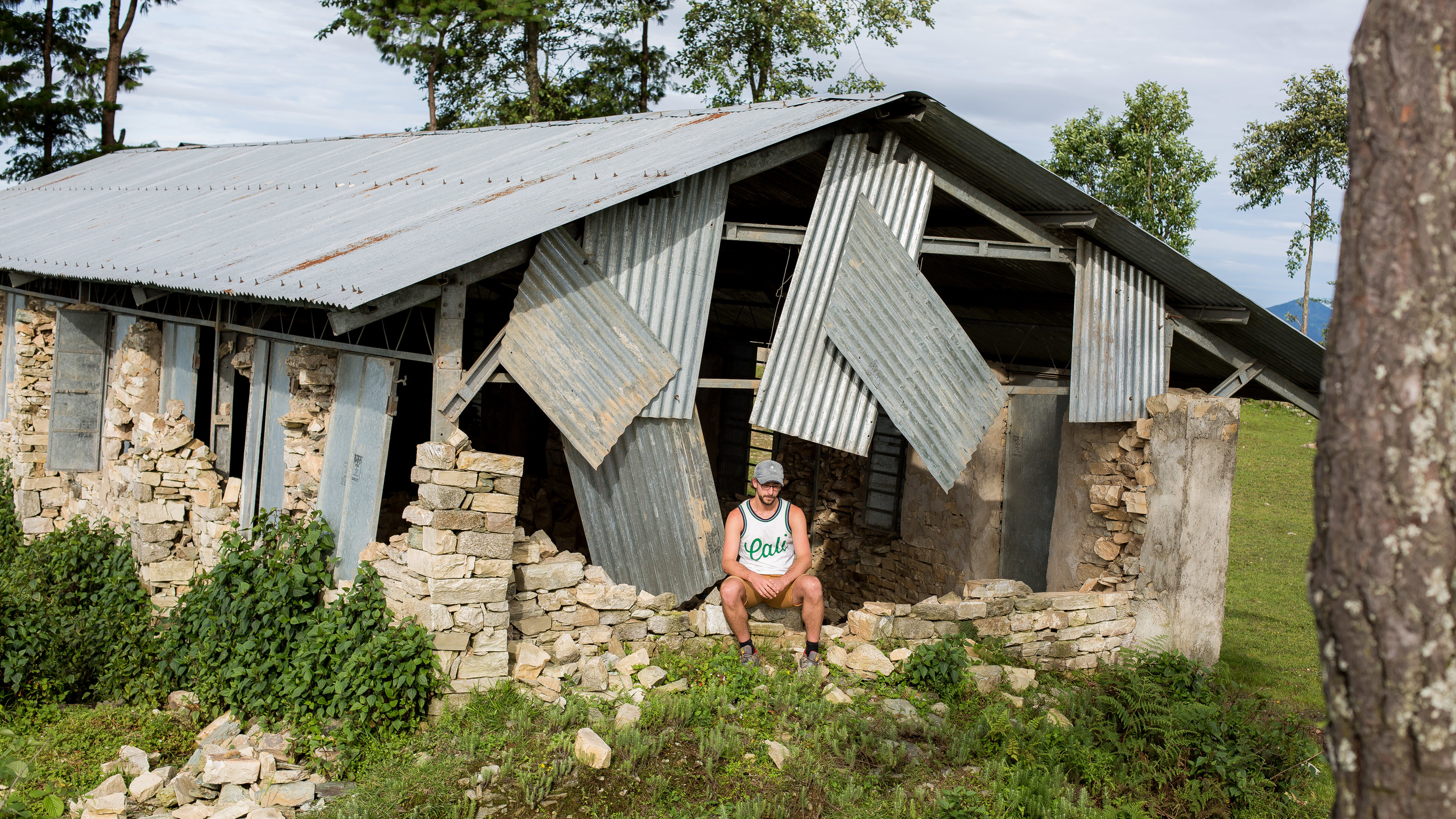 Thinking about the damage that destroyed the village of Deorali and this school.
