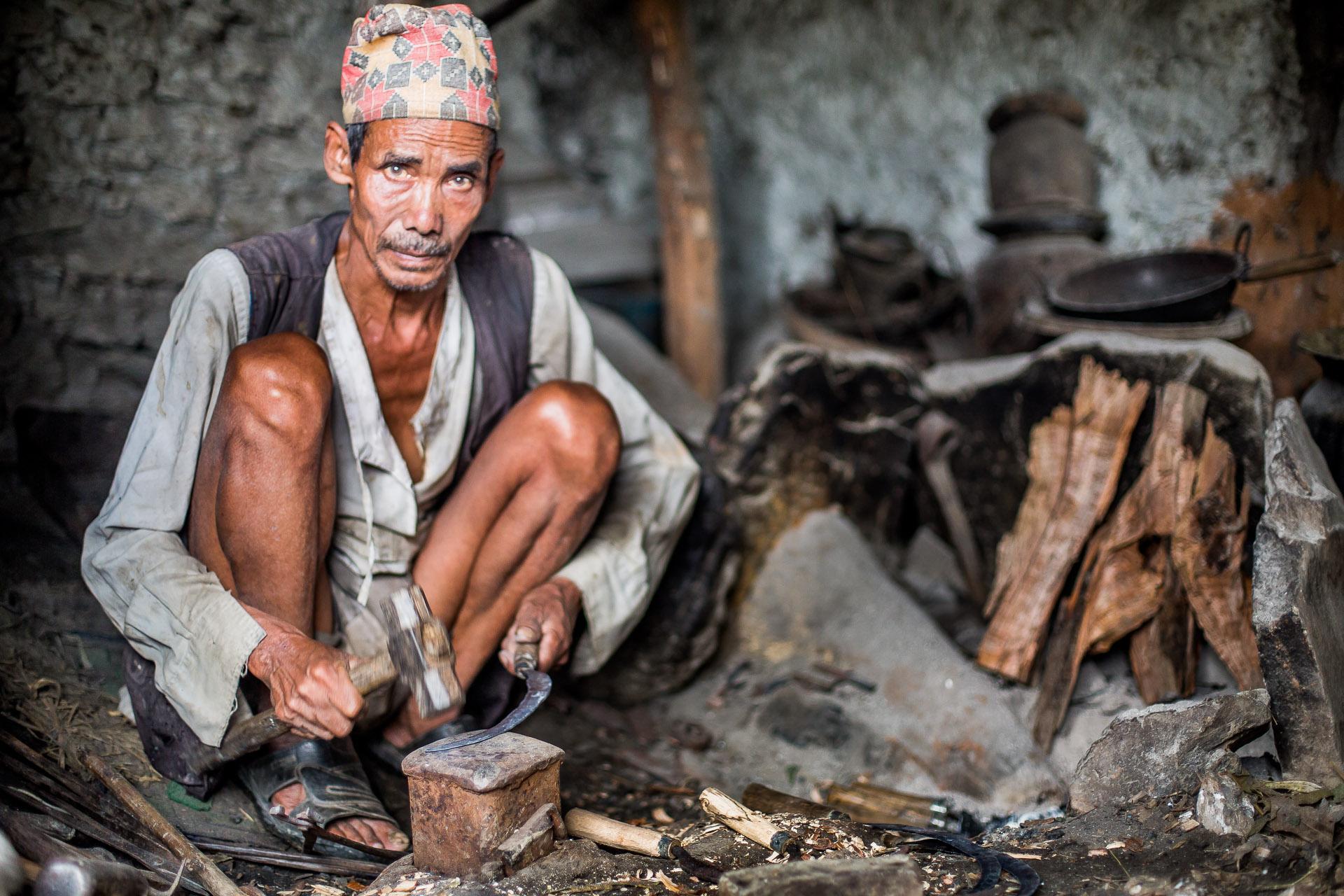 Village blacksmith.