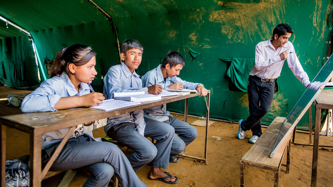 Extra lessons given to three 11thClass students.