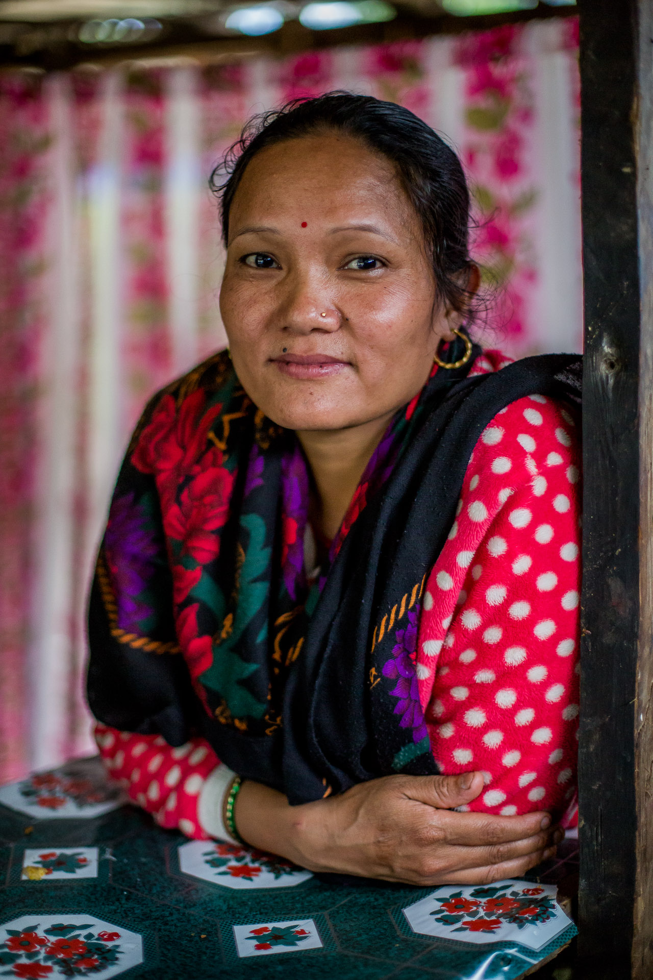 Shri Maya Gurung who shared the story about Barpak.