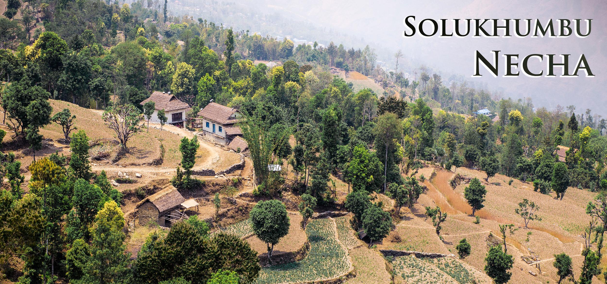 Een blik op het dorp Necha waar we tijdens de reis een aantal dagen opgaan in het lokale leven.