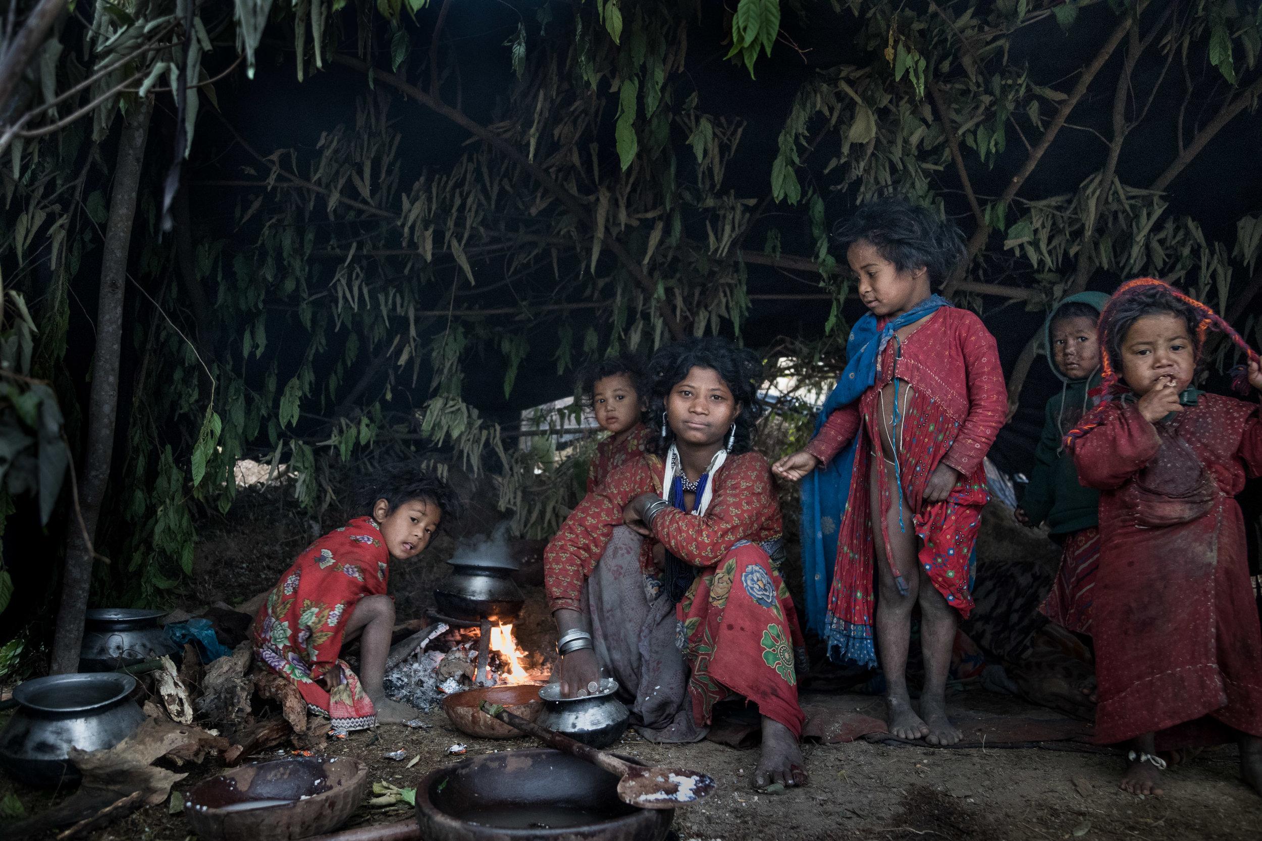 Over de Raute stam     De laatste nomaden van Nepal