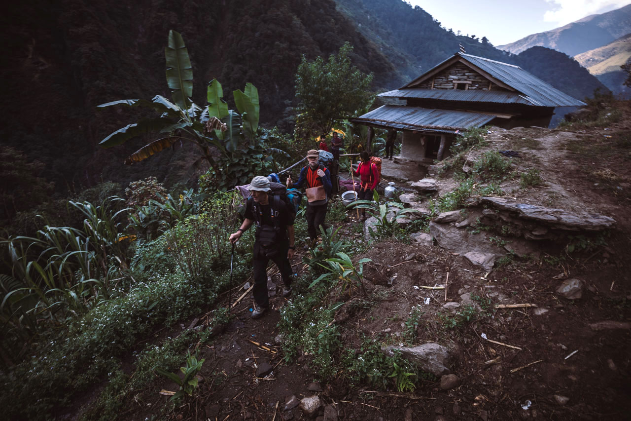 Leaving early morning at sunrise as the distances to cover in between villages where very long.