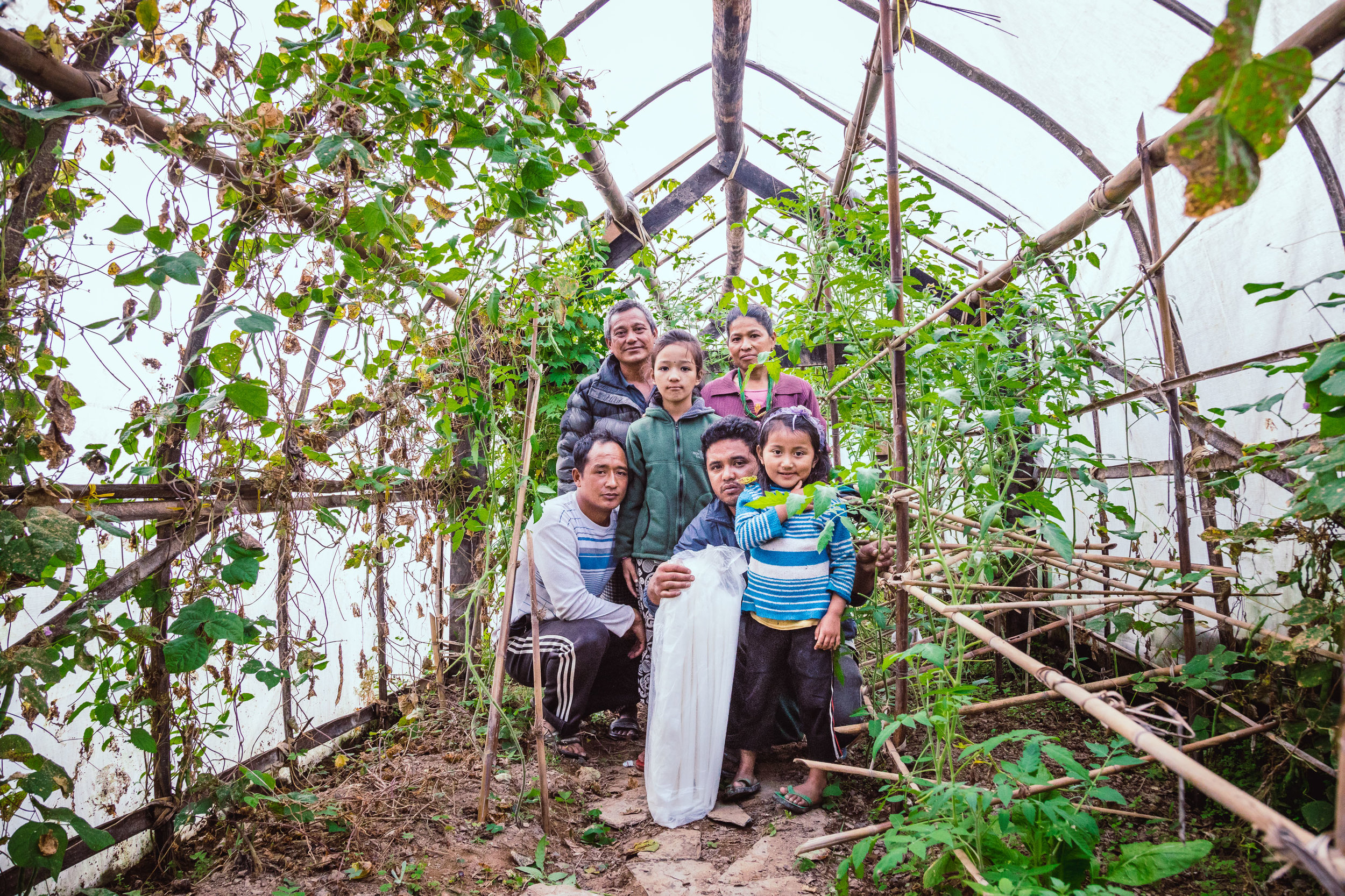 Familie that we visited in Solu district. All members are working time by time in the greenhouse and are grateful we gave them this opportunity.