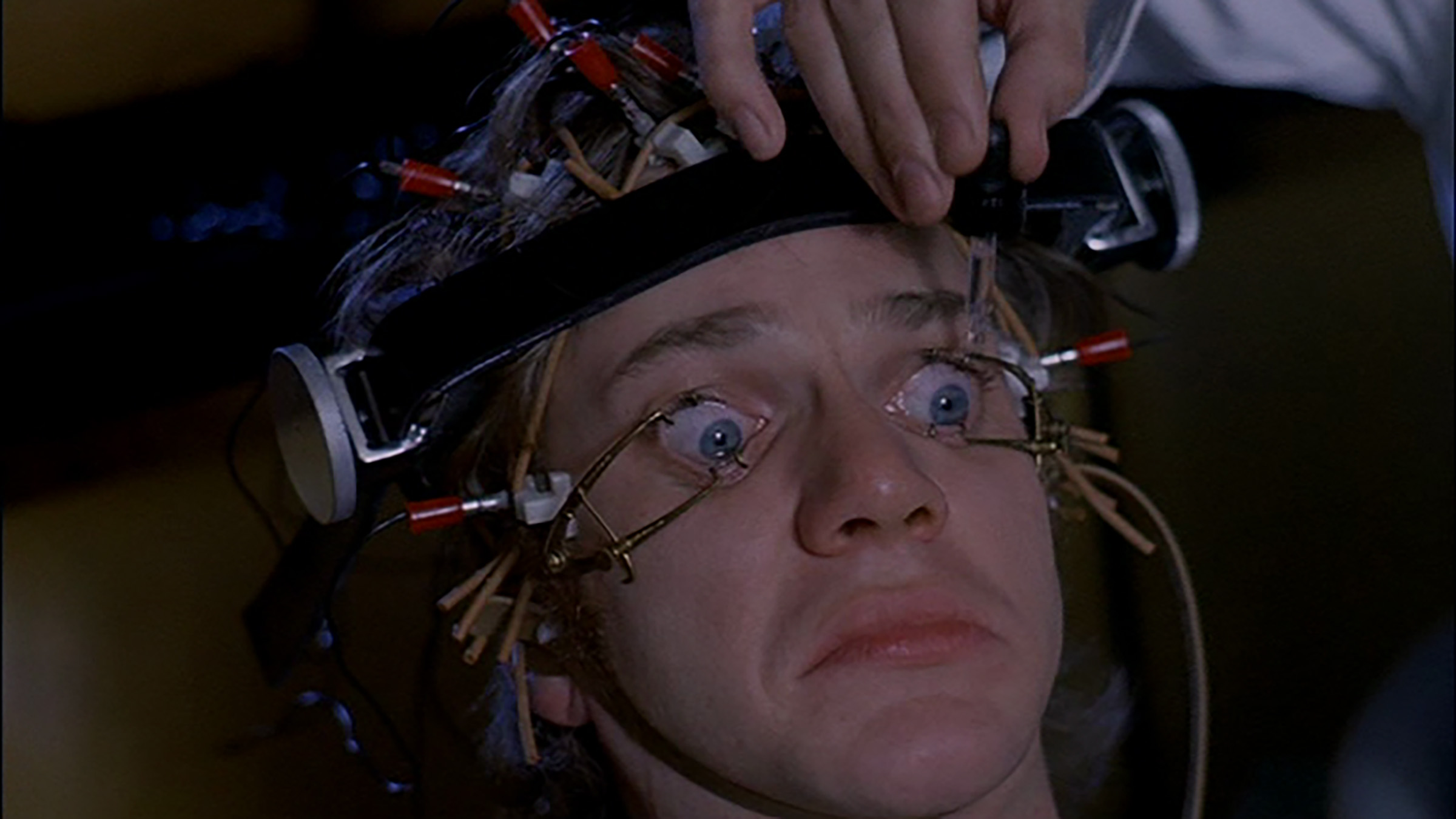 Still taken from A Clockwork Orange. Directed by Stanley Kubrick. Cinematography by John Alcott.