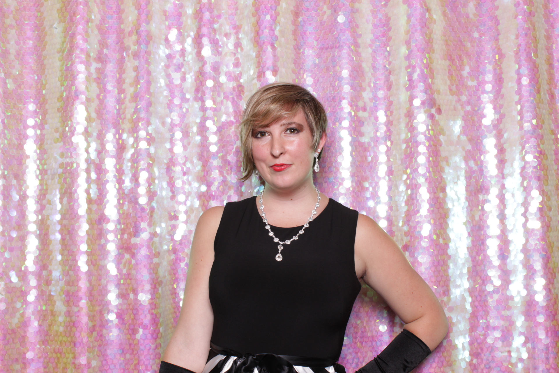 HOT IRIDESCENT SEQUINS BACKDROP   HOT PINK PHOTO BOOTH   DC PHOTO BOOTH RENTAL