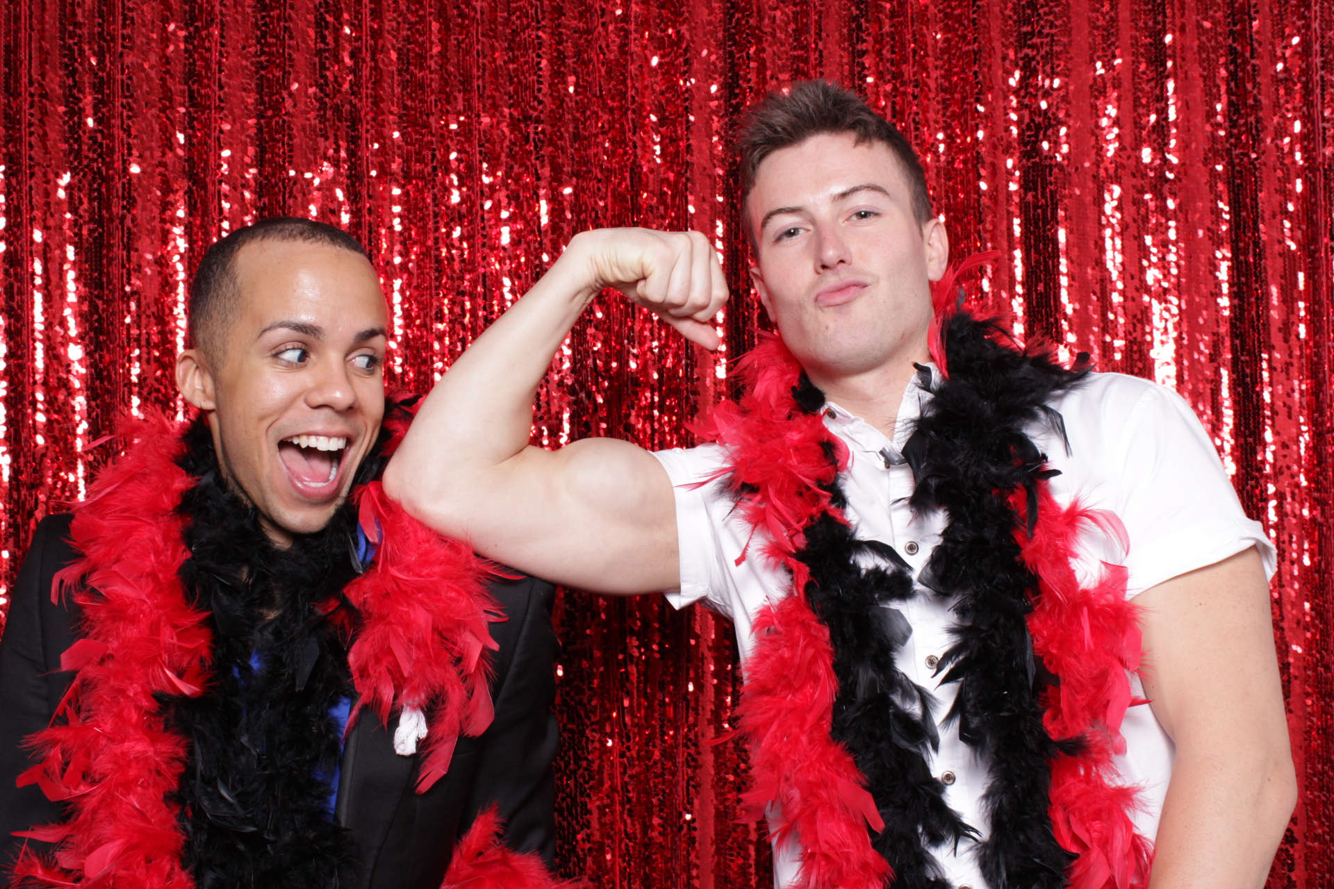 HOT RED SEQUINS BACKDROP | HOT PINK PHOTO BOOTH | DC PHOTO BOOTH RENTAL