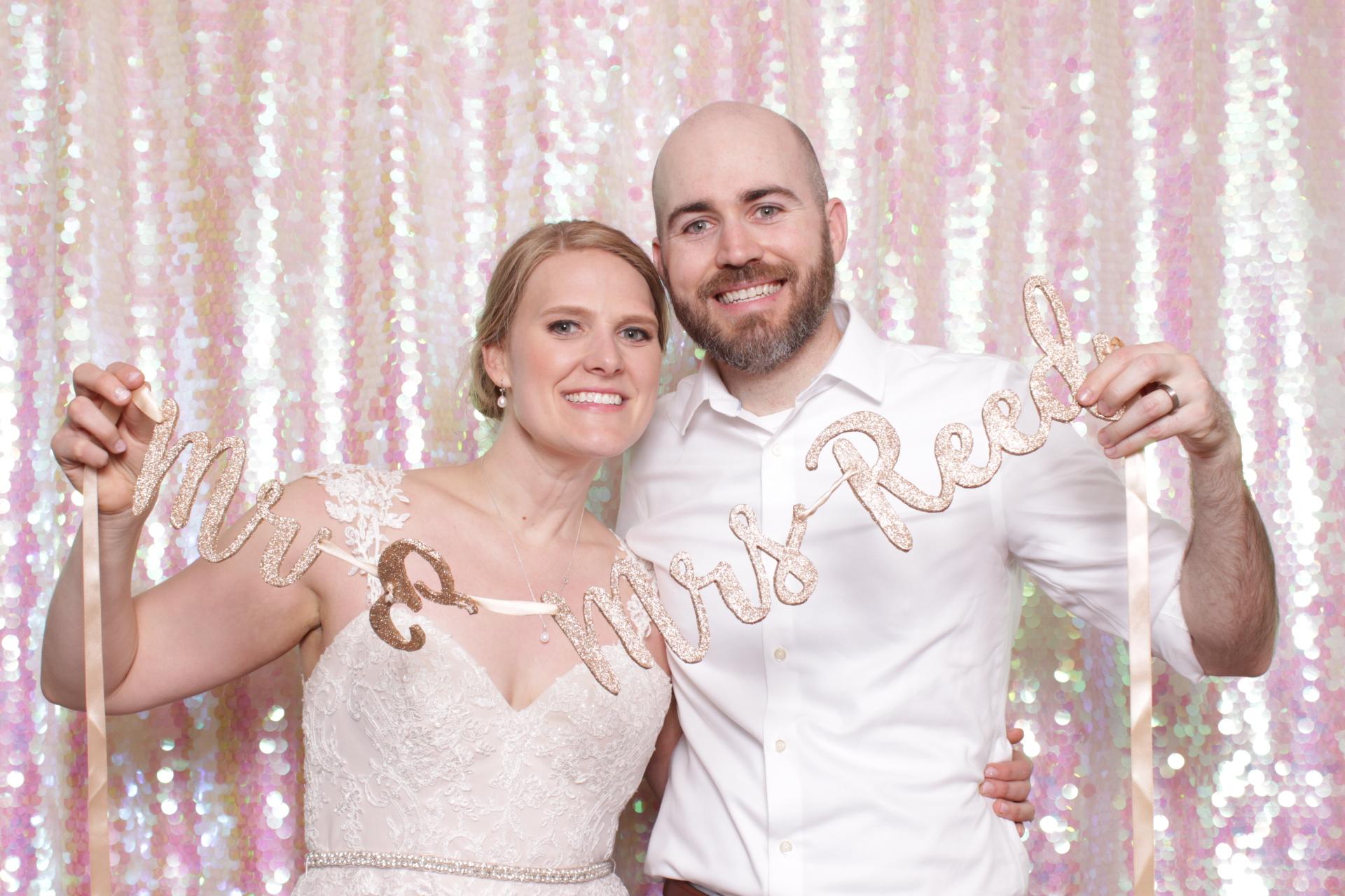 KELLY + ALEX WEDDING | HOT PINK PHOTO BOOTH