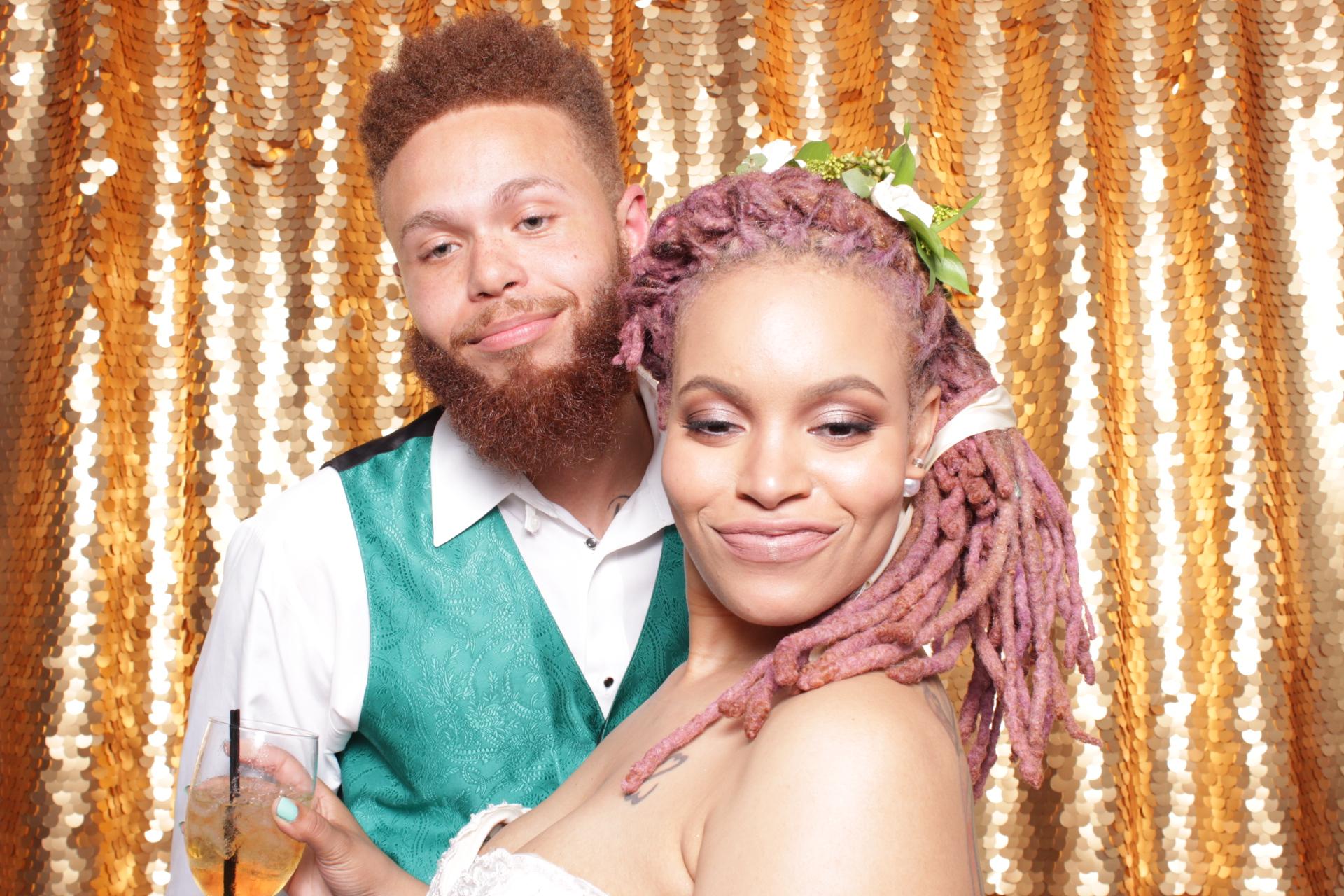 ATARA + JOSEPH WEDDING | HOT PINK PHOTO BOOTH