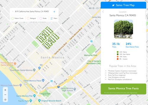 Hack for LA (Santa Monica Public Tree Map) — Trevor Schulte