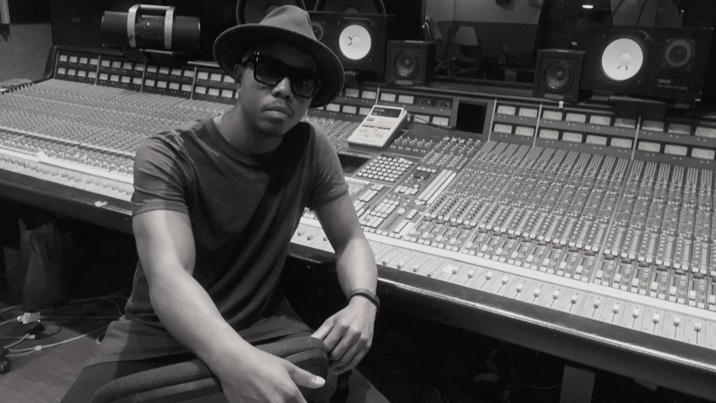 Dj Journey during a recording session with S.C.R.D. and The Klick at Skip Saylor Recording studio in Encino, CA.