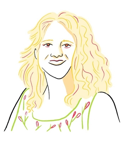 Marieke Bink, Director of Cycling Without Age - Singapore. Illustration by  Chelsea Larsson .