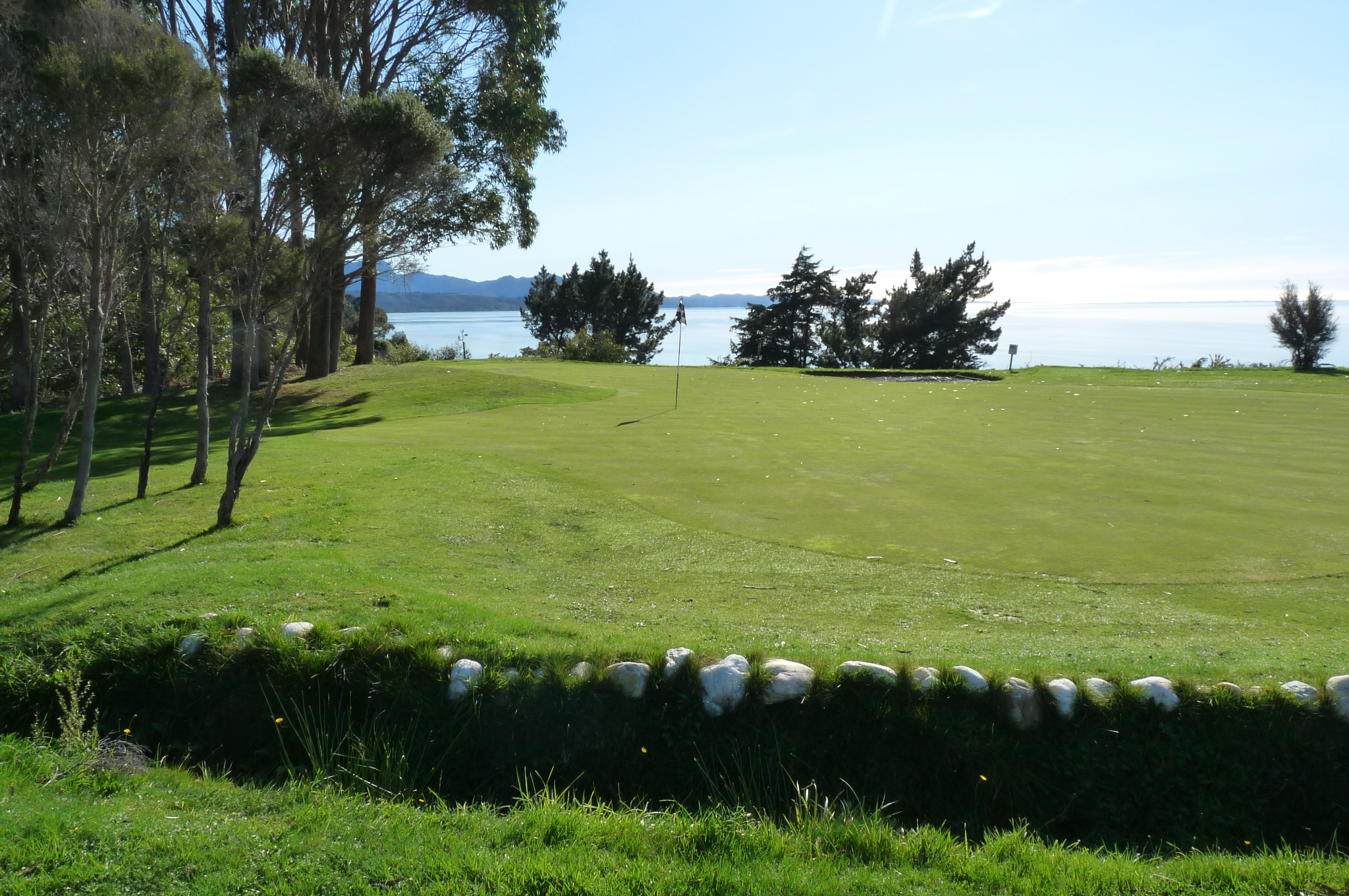 View from behind the green