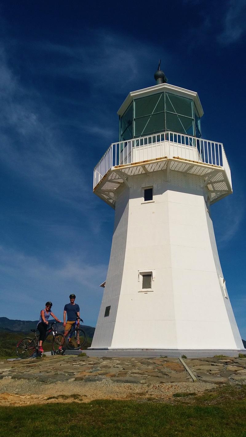 School group explore Pencarrow lighthouse