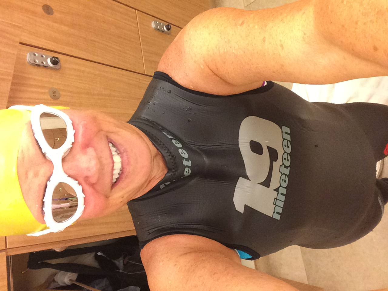 Love the new goggles but I'm going with the full wetsuit at the Bethany Tri.