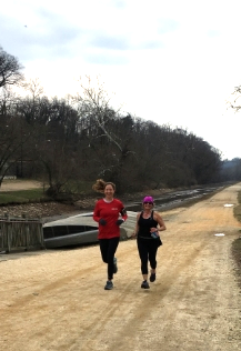 At the halfway mark during yesterday's 10 mile training run with Micki Hultquist