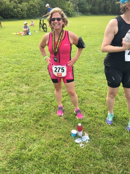 So happy to be a finisher and sooooo inspired by triathletes who compete at any distance!