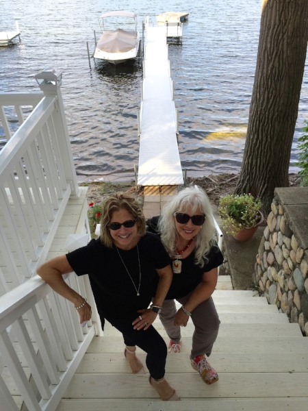With my host Carmelita Watkinson. Our road trip to Warsaw, Indiana, included a stay in a beautiful house overlooking Tippecanoe Lake.