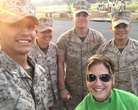 I used my opportunity as a volunteer with the Marines at the Marine Corps Marathon on October 30 to learn a few things about running a race. I also came away with a sense of well being, a welcome respite from election-related stress