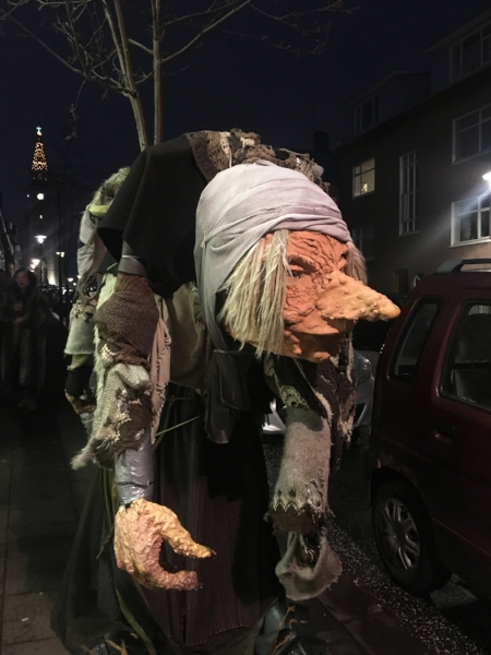 One of the famous trolls in downtown Reykjavik