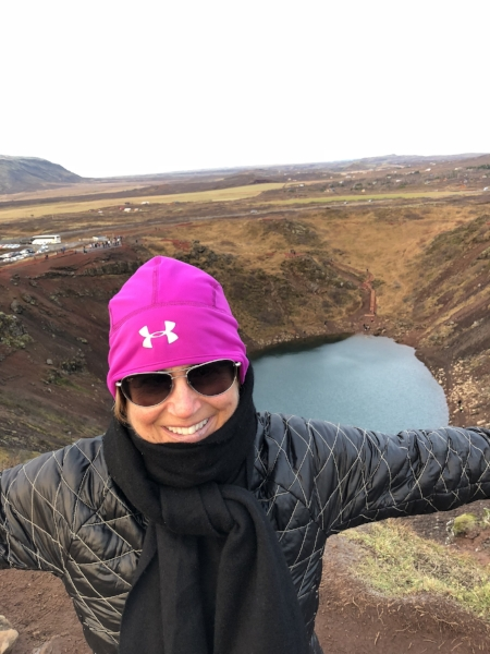 Along the Golden Circle, Hosted by  Discover Iceland , I came across this. At Kerið volcanic crater lake outside Reykjavik, Iceland