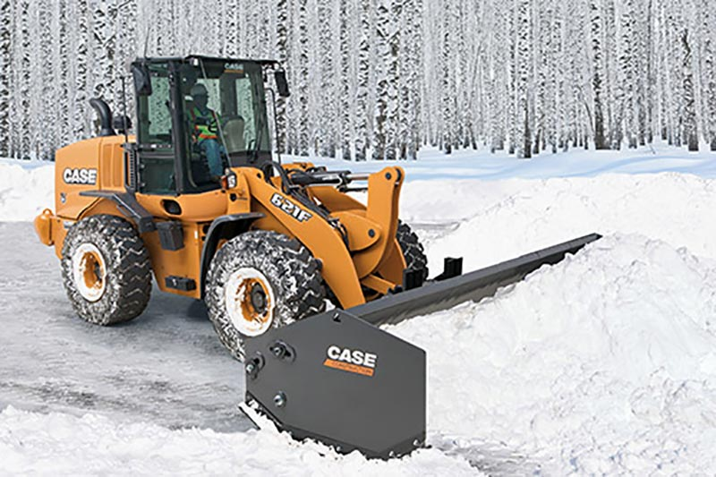 tractor with snow removal attachment